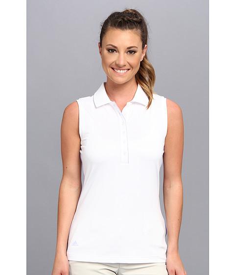 Bluze adidas - 3-Stripes Piped Sleeveless Polo \14 - White/Avery