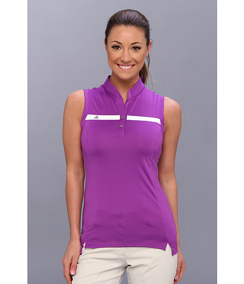 "Bluze adidas - Puremotionâ""¢ Tour CLIMACOOLÃ'® Sleeveless Polo \14 - Vivid Purple/White"