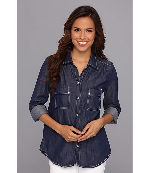 Camasi Karen Kane - Patch Pocket Shirt w/Snaps - Indigo