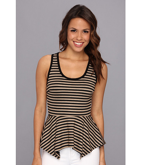 Bluze Karen Kane - Striped Sleeveless Peplum Top - Stripe