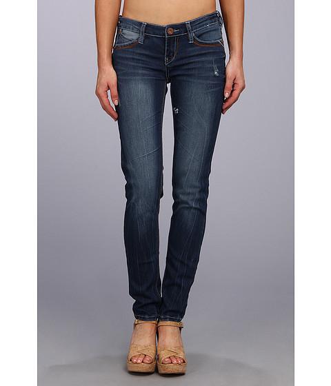 Blugi UNIONBAY - Liberty Back Flap Five-Pocket Denim Skinny Jean in Faded Indigo - Faded Indigo