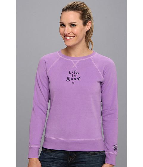 Bluze Life is good - Softwash Crew Sweatshirt - Soft Purple 2