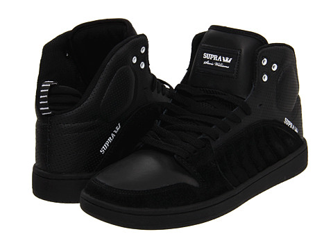 Adidasi Supra - S1W - Black Suede/Perforated Leather/Black