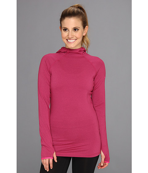Bluze Nike - Nike Pro Hyperwarm Dri-FIT Max Hoodie - Raspberry Red/Pink Foil/Pink Foil