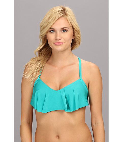 Costume de baie Vitamin A Silver Swimwear - Charli Flounce Top - Clover