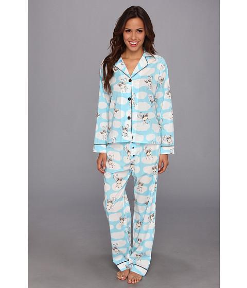 Lenjerie P.J. Salvage - Playful Prints Pugs Pajama Set - Aqua