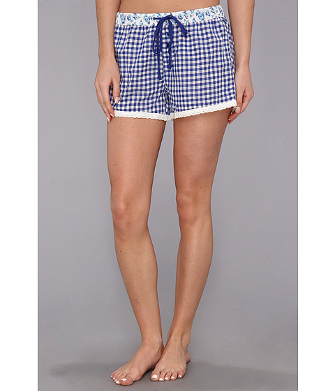 Lenjerie P.J. Salvage - Aqua Marine Gingham Sleep Short - Royal