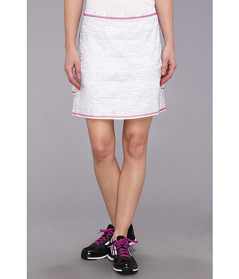 Pantaloni adidas - CLIMACOOLÃ'® Textured Pleat Skort \14 - White/Light Onix/Bahia Magenta