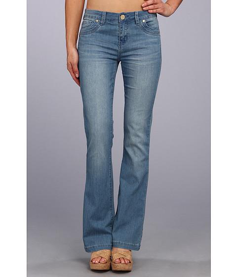 Blugi Buffalo David Bitton - Ferria Mid-Rise Flare Jean in Blue Vintage - Blue Vintage