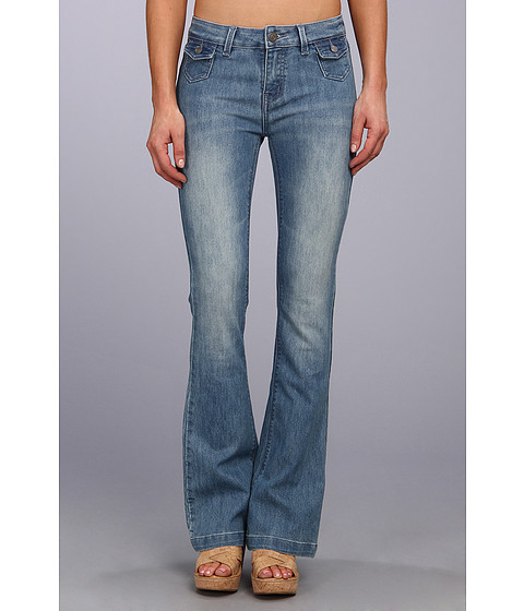 Blugi Buffalo David Bitton - Gallia Flare Jean in Light Blue - Light Blue