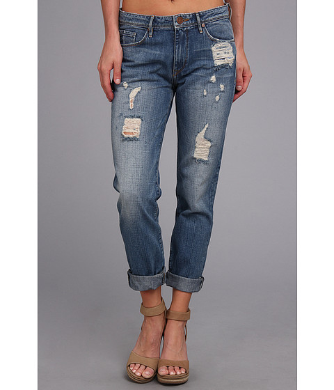 Blugi Buffalo David Bitton - Lynne Boyfriend Jean in Florida Wash - Florida Wash