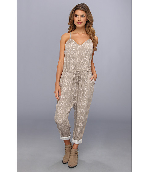 Pantaloni Free People - Sunset Romper - Stone Combo
