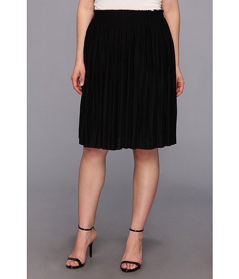 Fuste Calvin Klein - Plus Size Pleated Poly/Rayon Short Skirt - Black