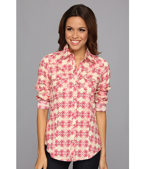 Camasi Roper - 8991 Stawberry Swirl Print Poplin Shirt - Red