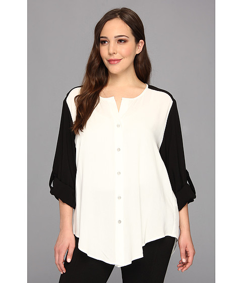 Bluze Karen Kane - Plus Size Rolled Sleeve Blouse - OFB