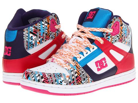 Adidasi DC - Rebound High LE W - White/Pink/Multi