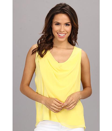 Bluze Calvin Klein - S/L Chiffon Drape Poly Top - Daisy