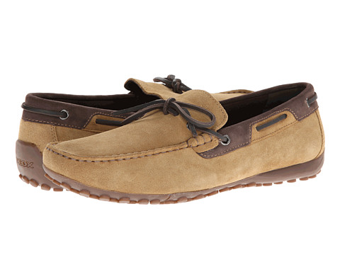 Pantofi Geox - Uomo Snake Mocassino - Camel/Ebony