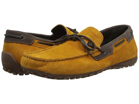 Pantofi Geox - Uomo Snake Mocassino - Ochre/Ebony
