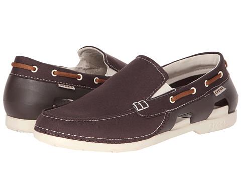 Pantofi Crocs - Beach Line Boat Slip - Espresso/Stucco