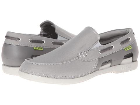 Pantofi Crocs - Beach Line Boat Slip - Smoke/Pearl White