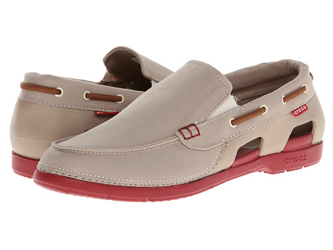 Pantofi Crocs - Beach Line Boat Slip - Tumbleweed/True Red