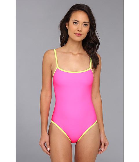 Costume de baie TYR - Huntington Beach Solid Bandeau One-Piece w/ Cups - Pink