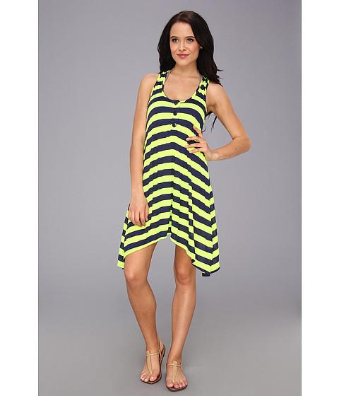 Costume de baie Splendid - Marcel Stripe Dress Cover-Up - Navy/Lime