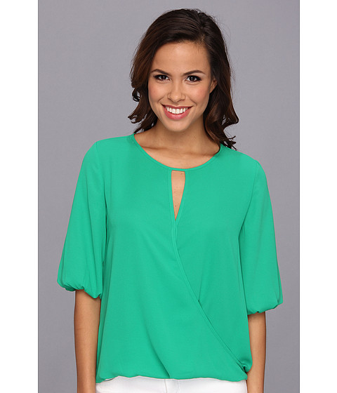 Bluze Vince Camuto - Elbow Sleeve Wrap Front Blouse - Clover Green