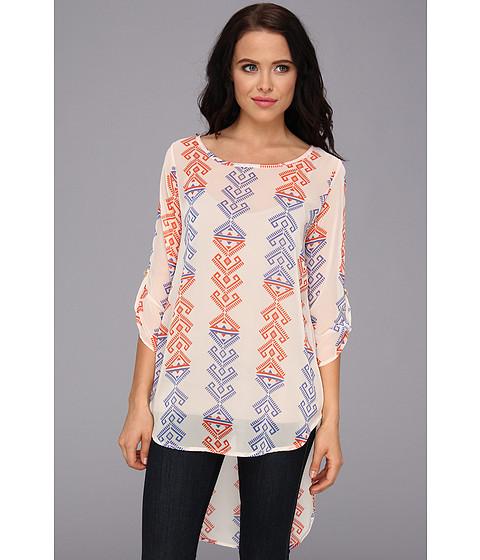 Bluze Gabriella Rocha - Patice Print Tunic Top - Orange/Royal