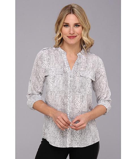 Bluze Calvin Klein - Print Crew NK Roll Sleeve Poly CDC Top - Grey Combo