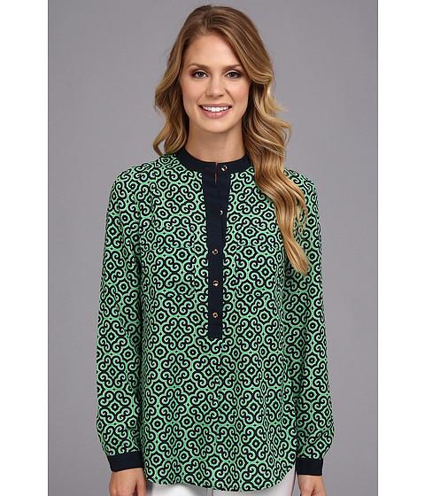 Bluze Jones New York - Two-Pocket Pop-Over Shirt - Kelly Green Combo
