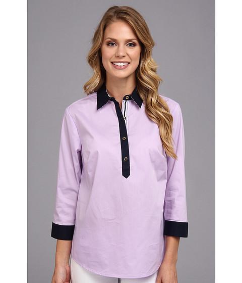 Bluze Jones New York - 3/4 Sleeve 1/2 Placket Shirt - Lilac