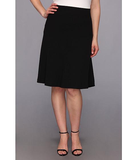 Fuste Vince Camuto - Plus Size Mid Flare Skirt - Rich Black