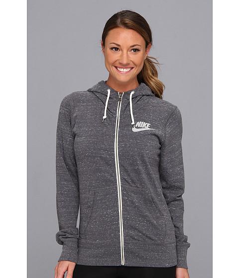 Bluze Nike - Gym Vintage Full-Zip Hoodie - Dark Grey/Sail