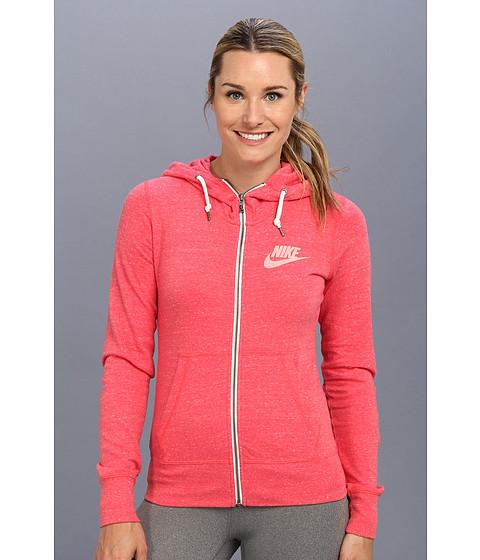 Bluze Nike - Gym Vintage Full-Zip Hoodie - Geranium/Sail