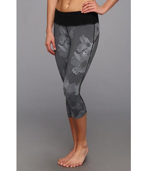 Pantaloni Nike - Dri-FITÃ'® Epic Run Printed Capri - Cool Grey/Black/Matte Silver