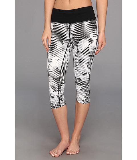 Pantaloni Nike - Dri-FITÃ'® Epic Run Printed Capri - White/Black/Matte Silver