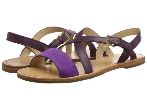 Sandale Cole Haan - Minetta Flat Sandal - Aster Purple Nubuck/Seedling