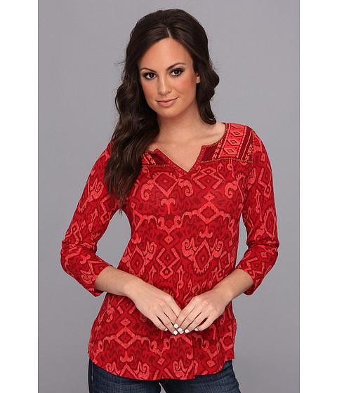 Bluze Lucky Brand - Camarillo Ikat Top - Red Multi