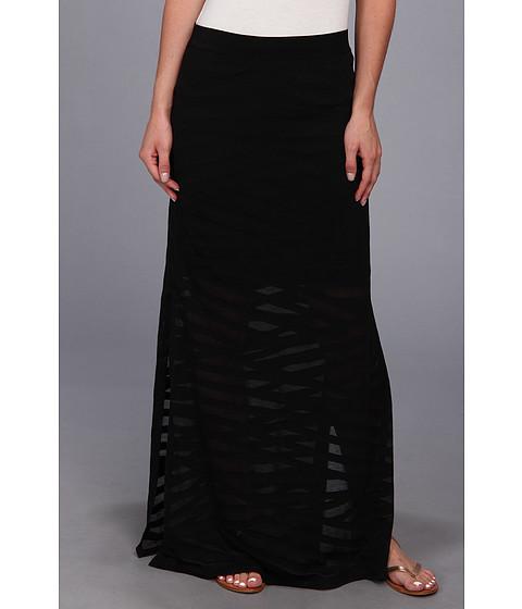 Fuste Seven7 Jeans - Patchwork Burnout Side Slit Skirt - Black