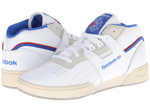 Adidasi Reebok - Workout Mid Clean RE - White/Vital Blue/Stadium Red/Sandtrap/Tin Grey