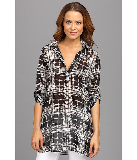 Bluze Gabriella Rocha - Gigi Plaid Chiffon Top - Black