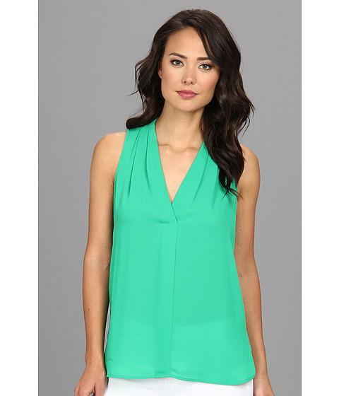 Bluze Vince Camuto - S/L V-Neck Blouse - Clover Green