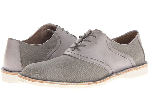 Pantofi Marc New York by Andrew Marc - Dorchester Saddle - Lead/White/Cymbal Canvas