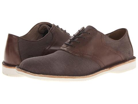Pantofi Marc New York by Andrew Marc - Dorchester Saddle - Oak/White/Cymbal Canvas