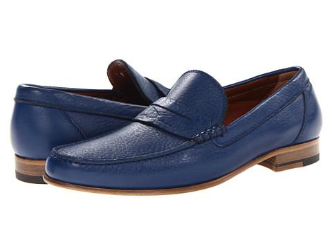 Pantofi A. Testoni - Deer Leather Penny Loafer - Blue