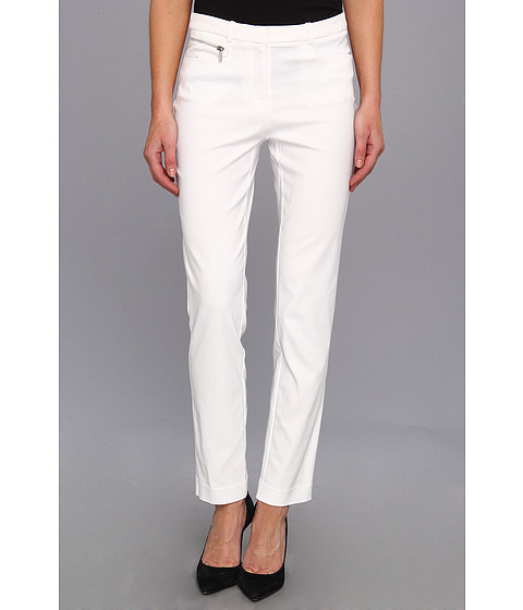 Pantaloni Calvin Klein - Tech Stretch Millenium Pant w/ Zipper - White