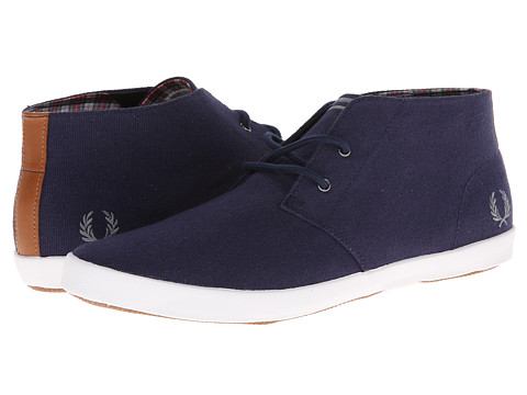 Adidasi Fred Perry - Byron Mid Heavy Canvas - Carbon Blue/Steel