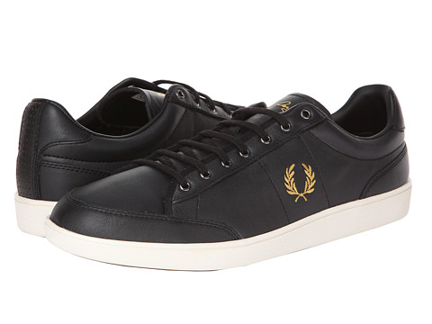 Adidasi Fred Perry - Hopman Leather - Black/1964 Gold